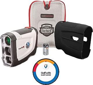 Bushnell BUNDLE Tour V4 Golf Laser Rangefinder + Golfwith Smart Ball Marker GPS + CR2 Battery + Silicon Skin Golf GPS Complete Solution!