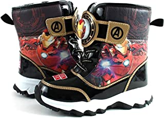 Avengers Iron Man Boys Light Up Winter Warm Black Snow Boots (Parallel Import/Generic Product)