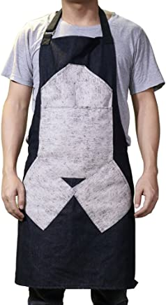 QEES Adjustable Novelty Apron BBQ Cooking Apron Funny Womens Apron Gift About Hug Our Chef WQL137 Funny Chefs Apron for Dad