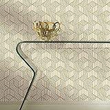 RoomMates RMK10707WP Papel tapiz hexagonal, despegar y pegar, 20.5' x 16.5 feet, blanco/dorado