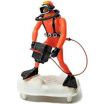 E'cella Aquarium Scuba Diver (Camera Man) for Fish Tank Ornament Decoration - Decorative Air Operated Action Toy