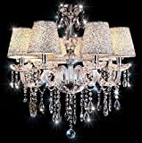 Chandelier , 6 Lights Crystal Ceiling Lamp