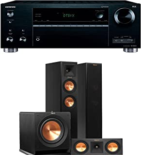 Onkyo TX-RZ710 7.2-Channel Network A/V Receiver + Klipsch RP-250F + Klipsch RP-250C + Klipsch R-110SW - 3.1 Reference Premiere Home Theater Package