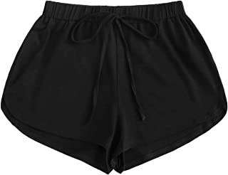 elastic waist black shorts