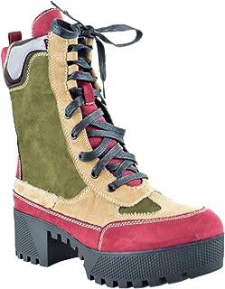 Bambo Powerful 06S Womens Chunky Heel Platform Lug Sole Military Combat Boots