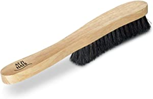 Atzi Hats Fedora Hat Brush Lint Remover Duster Brushes for Felt Hats 100% Horse Hair Wood Brush (Black)