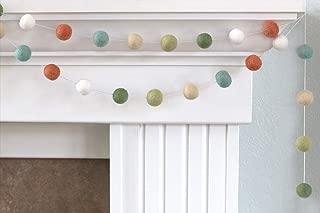 """Spring Felt Ball Garland- Blue, Green, Neutrals- Easter- 1"""" (2.5 cm) Wool Felt Balls"""