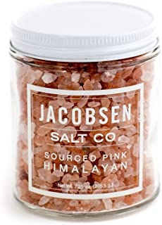 Jacobsen Salt Co. Pink Colored Himalayan Specialty Sea Salt, Extra Coarse, for Gourmet Cooking, 7.25 Ounce