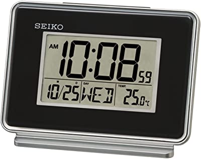 Seiko - Calendario LCD con Alarma Doble, 6 x 12 x 8 cm, Color