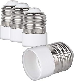 kwmobile 4x Casquillos de lámpara - Adaptador conversor de montura E27 a casquillo E14 - Zócalos para lámparas LED halógenas y de ahorro