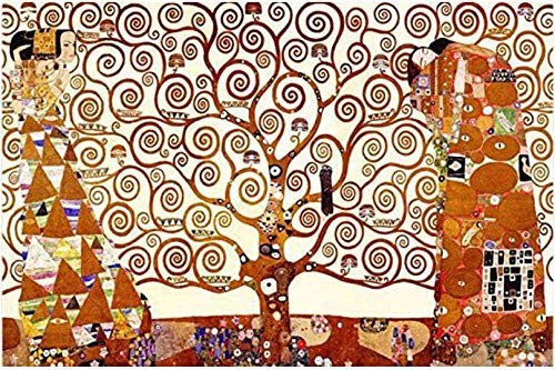 WCYJ Puzzles Madera Rompecabezas 1000 Piezas El Árbol De La Vida De Gustav Klimt Descompresión Adulta Juegos Educativos para Niños Juguetes Creativos Decoración del Hogar