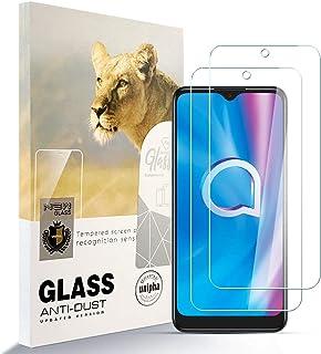Asoway skärmskydd för ALCATEL 1SE 2020 [2-pack] HD härdat glas film antifingeravtryck bubbla fri lätt att installera, 9H h...