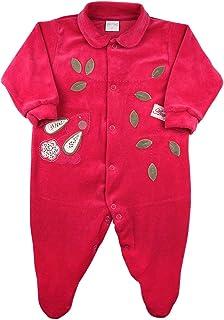 Macacão Bebê Plush Coelhinha com Folhagens - Pink M