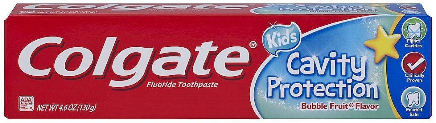 トランジスタ手荷物空港Colgate キッズ空洞保護歯磨き、バブルフレーバー、4.6オンス