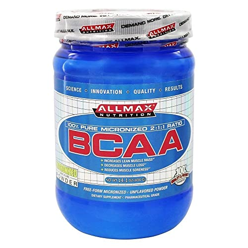 ALLMAX Nutrition BCAA Instantized 2 1 1 Ratio Unflavored Powder 400 g