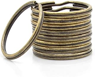 RUBINO - 120 anelli in metallo, basi per portachiavi artigianali, portachiavi (Ø 30mm, Bronzo)