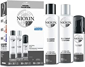 Nioxin System 2 Natural Hair Progressed Thinning Kit for Unisex - 3 Pc
