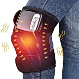 Electric Heated Knee Massager, Adjustable Heated and Massage Knee Heating Pad for Arthritis Pain...