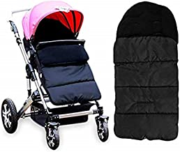 YIKEYO Saco Silla Paseo Universal Invierno - Bebe Sacos de abrigo para Carritos - Calentito Saco en el Carro - Impermeable Sacos de abrigo (Negro)