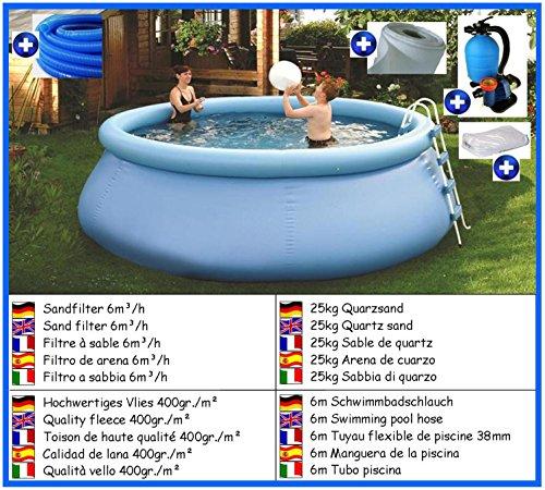 Flexi Pool deLuxe rund Mega Set 3,00m x 0,90m mit Sandfilter Pool Pools Rundbecken Rundpool