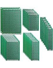 Elegoo 32 Stuks Dubbelzijdige PCB Board Prototype Gatenroosterplaat Kit voor Knutselen Solderen 5 Verschillende Maten Compatibel met Arduino Kits