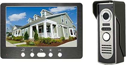 Videodeurbel, intercom, bekabelde deurkijker Deurinvoersysteem, videodeurtelefoon Home Security, IR-nachtzichtcamera + 7-i...