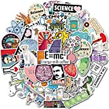 50pcs Laboratory Physics Chemistry Graffiti Stickers Science for Suitcase Skateboard Guitar Travel Case Door Decals Water Bottle Laptop Luggage Car Bike Clings Super Waterproof (Laboratory)