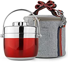 WCHCJ Thermal Lunch Box-Box Lunchbox Containers for Kids, Adult -Stainless Steel Insulated Thermal Insulation Lunch Box, S...