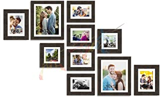 Painting Mantra Decorative Premium Set of 10 Individual Wall Scaffold Glass Photo Frame - Copper
