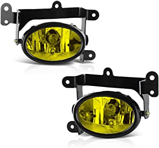 VIPMOTOZ JDM Yellow OE-Style Front Fog Light Driving Lamp Assembly w/Bezel For 2006-2008 Honda Civic Coupe - Power Switch & Universal Wiring Included, Driver & Passenger Side