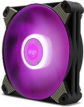 Aigo ICY-Series X1 120mm LED Quiet Edition High Airflow Hybrid-Design Silent Fan Computer Cases CPU Coolers Radiators Ultra Quiet Computer PC Case Fan (2 Pack, Purple)
