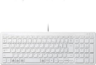 エレコム キーボード 有線 パンタグラフ コンパクトキーボード ホワイト TK-FCP097WH