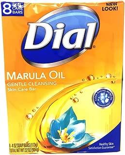 Dial Bar Soap, Miracle Oil Marula, 4 Oz, 8 Ct
