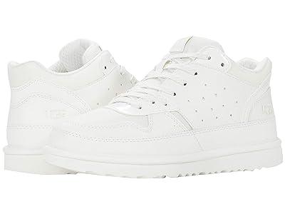UGG Kids Highland Sneaker (Little Kid/Big Kid) (White) Girl