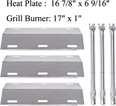 GasSaf Grill Replacement Parts for Ducane 30400040, S3200, S5200, 30400042, 30400043, 30400045, 30400046, 30558501, Stainless Steel 16 7/8 inch Heat Shield Tent Flame Tamer & 17 inch Burner Tube