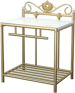 Table de Chevet Fer forgé européenne Table de chevet simple personnalité Armoire de chevet Chambre Petit bureau Armoire de...