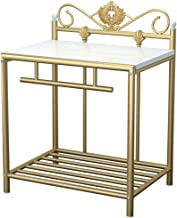 Bedroom Furniture Nightstand European Wrought Iron Bedside Table Simple Personality Bedside Cabinet Bedroom Small Desk Sto...