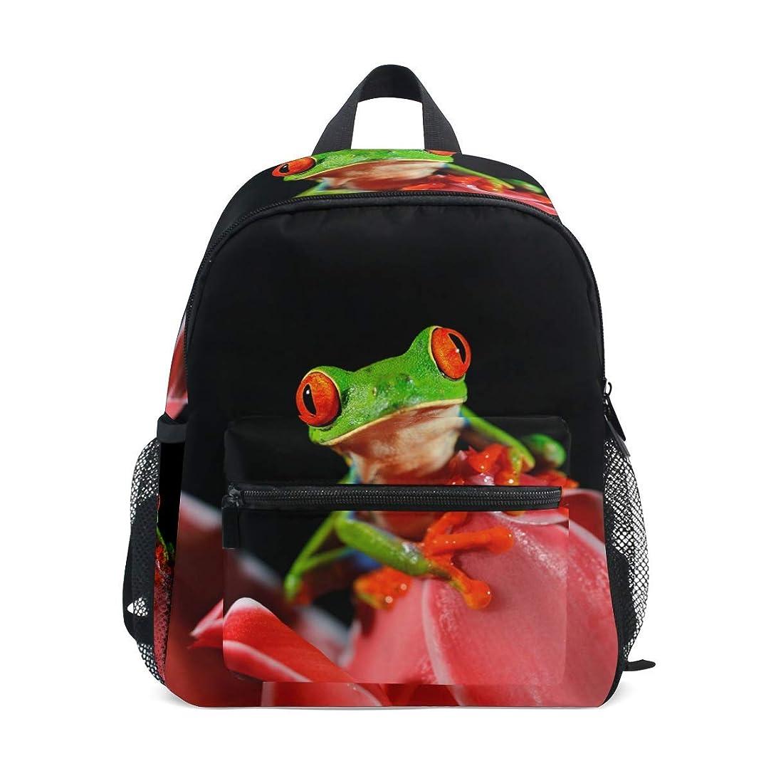 アスリートパラシュートキャラクターVAMIX 子供バッグ リュック バッグ リュックサック 男女兼用 女の子 男の子 日常 大容量 学生 子供 カエル 花柄