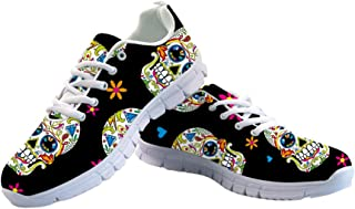 Women's Running Sneaker Lightweight Go Easy Walking Jogging Sports Running Shoes Rose Floral Print