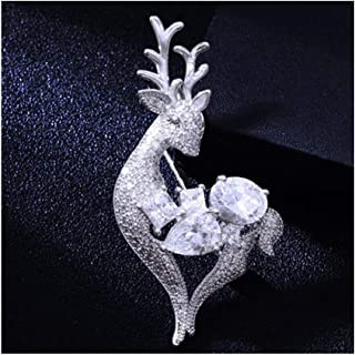 PYBHR Fawn Brooch Female Pin Buckle Western Assembly Jewelry (Color : D)