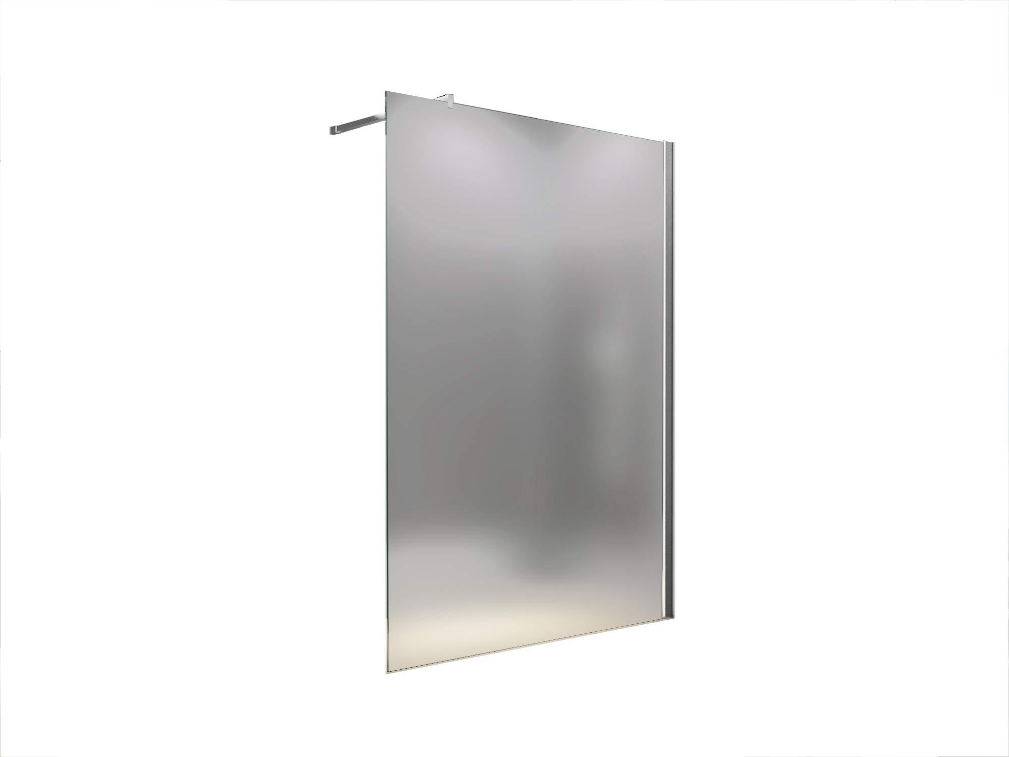 100 x 200 cm Cabina de ducha helada Lily, vidrio de leche, mampara de ducha, caminar-In Dusche, 10 mm vidrio de seguridad ESG: Amazon.es: Bricolaje y herramientas