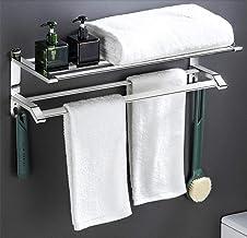 Handdoekenrek, Met Haken Handdoekplank, Sus 304 Gepolijste Finishi Roestvrijstalen Hanger, Waterdicht En Roestvrij, Voor K...