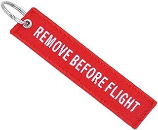 Heyuni.1PC Remove Before Flight DARK RED Key Chain Aviation ATV Motorcycle Pilot Crew Tag