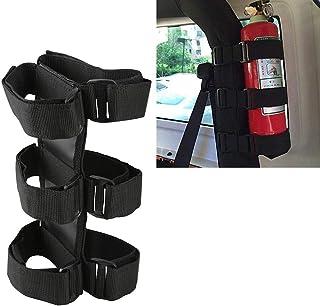 u-Box Fire Extinguisher Holder Adjustable Extinguisher Mount Strap for 1987-2020 Jeep Wrangler JK JL TJ CJ YJ & 2020 Jeep Gladiator JT, Black