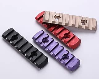 TuFok Mlok/Keymod Picatinny Rail Section - Ultra Thin,(Aluminum,3-Slot,5-Slot,7-Slot,9-Slot,13-Slot)