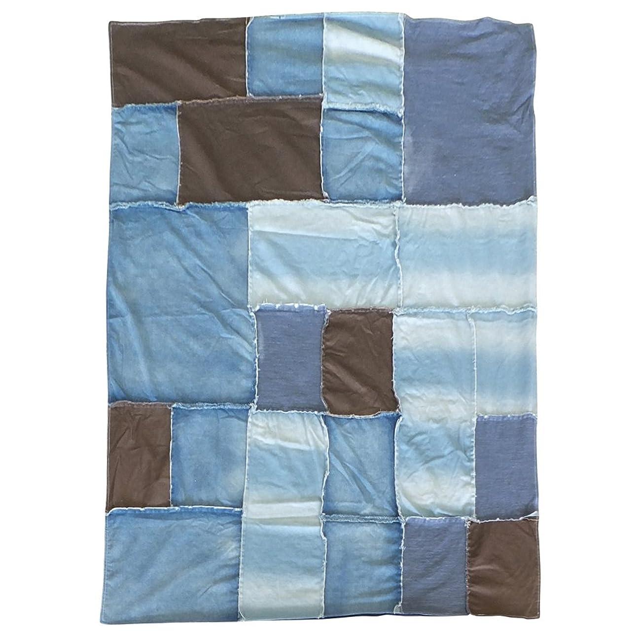 パステル天国収穫モリヨシ 掛けふとんカバー ブルー 横145×縦205cm
