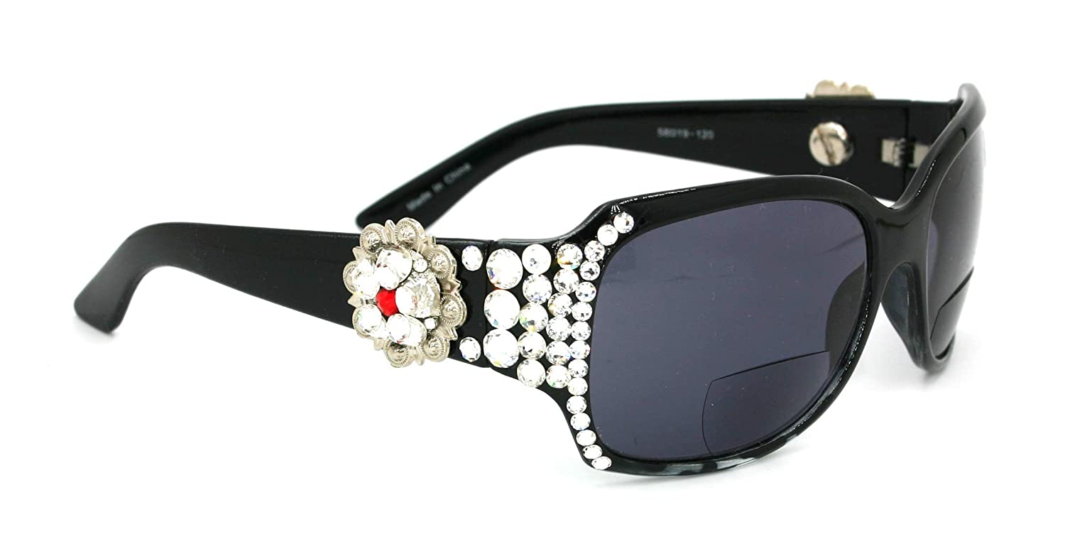 The Medallion Berry Bifocal NEW before selling ☆ Bling Reader Women Sales for sale Sun glasses Ad