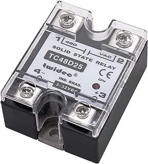 Twidec/Output Single Phase SSR Solid State Relay 25A 3-32V DC to 24-480V AC SSR-25DA