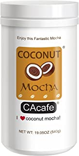 CAcafe Coconut Mocha, All Natural Real Coconut, Dutch Cocoa, and Colombian Coffee, 19.05oz, 18 Servings