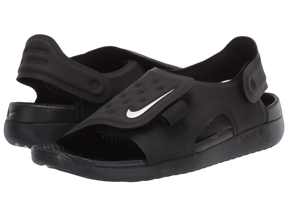 Nike Kids Sunray Adjust 5 (Little Kid/Big Kid) (Black/White) Boys Shoes